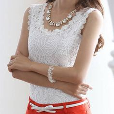 Blusas De Renda Feminino White Lace Blouse Womens Tops Fashion 2015 Vetement Femme Plus Size Women Clothing Roupas Femininas