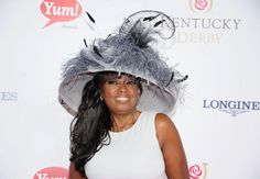 2013 Kentucky Derby Hats | Star Jones went with a black-and-white number to match her white dress ...