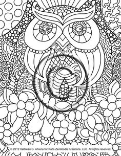 Abstract Coloring Pages | Abstract Owl Coloring Pages