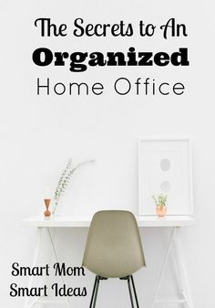 Is your home office a place you go and enjoy work or is it cluttered and messy? Follow these steps to organize and declutter your desk and home office.