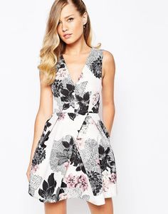 Image 1 ofKeepsake Gone Girl Dress In Floral Print