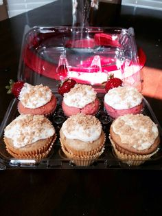 strawberry cheesecake cupcake. Filled with fresh strawberry cream cheese n topped with graham cracker. Pumpkin cheesecake cupcake. Filled with pumpkin cream cheese n topped with graham cracker