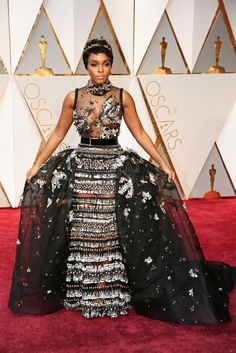 [Pics] Janelle Monae's Oscars Dress is the Stuff of Fairytales | Black Girl with Long Hair