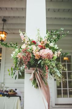 Lush & Dreamy - the perfect floral combination for house decor #cedarwoodweddings Lush and Romantic Destination Wedding :: Megan+Greg | Cedarwood Weddings