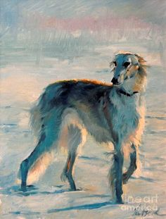 Yatsenko, Sergei (b,1958)- Borzoi- Russian Winter