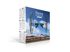 Parrot MiniDrone Rolling Spider Blue - Connected toy - Fly and roll anywhere - FreeFlight 3 App iOS & Android - Bluetooth 4.0