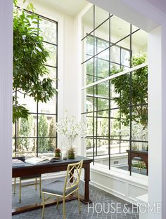 Create an atrium in your home with floor-to-ceiling mirrors.
