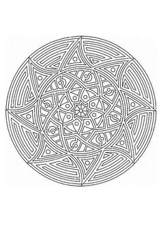 Relax While You Create With These Free Mandala Coloring Pages: Advanced Mandala Coloring Pages from Hello Kids
