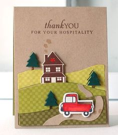 Hospitality Card by Betsy Veldman for Papertrey Ink (September Envelopes, New Home Cards, Get Well Cards, Winter Cards, Card Maker, Copics, Homemade Cards, I Card, Thank You Cards