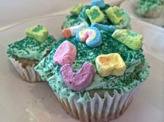 Pistachio Lucky Charm Cupcakes + Skinny Shamrock Shakes + a Jumpin' Leprechaun Workout | The Sometimes Healthy Living Blog