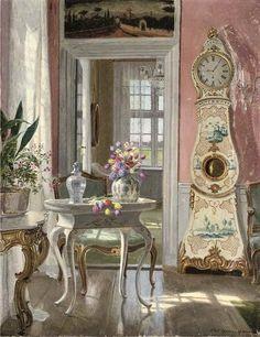 Adolf Heinrich Claus Hansen (1859-1925) Danish Painter. Interiors in painting ~ Blog of an Art Admirer