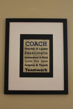 Coach Teacher And Leader Saying On Upcycled Vintage Dictionary Page Office Print