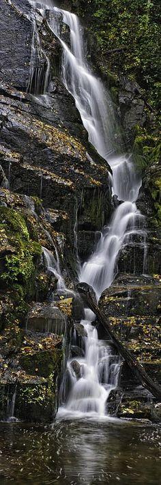 North Carolina Water Fall, USA - by Tom Croce
