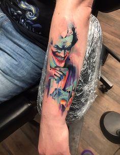 Joker watercolor tattoo