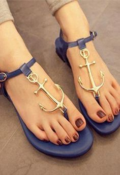 9cc3ea7b99e1d Fashion Candy -Colored Anchors Sandals Shoes JCACC