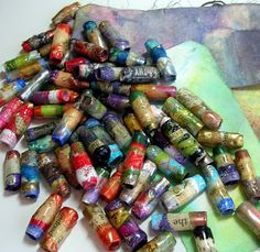 Paper Beads   Ephemeral Alchemy Gallery