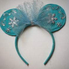 Frozen/Elsa Custom made Minnie Mouse Ears - by MakeMeMinnie on Etsy