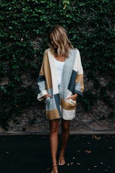 fall knits with gray, rust and white