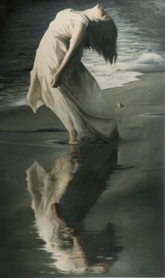 """Replica painting (unauthorized) of a Marta Bevacqua photograph. The """"artist"""" deserves no credit."""