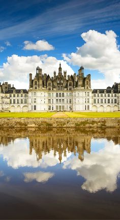 Chateau de Chambord, France!  Most people realize the Chateau de Chambord in France is large, but most people don't realize just how large. It contains 440 rooms and 365 fireplaces!