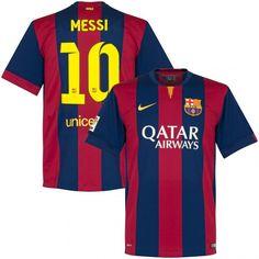 Men's 2014/15 FC Barcelona Lionel Messi 10 Champions League Home Soccer Jersey