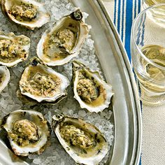 Broiled Oysters with Parmesan-Garlic Butter   Coastalliving.com