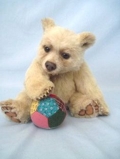 OOAK Artist Bear Realistic Style Kermode Cub by J Livingston Desertmountainbear | eBay