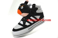 newest 936f1 34fda Adidas Angel Bird Fashion Winter Warm Skate Shoes Hi Top Black White