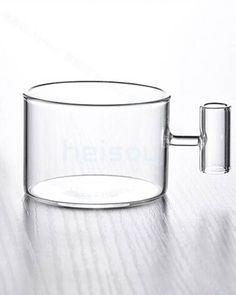 Heat-resistant glass tea cup!