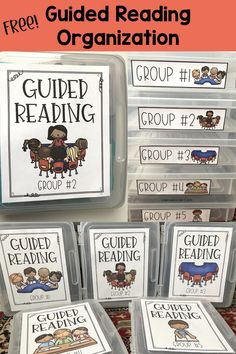 These large containers are perfect for organizing all your materials for Guided Reading groups. Grab the free labels, covers, etc to help get organized!