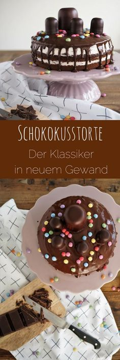 Chocolate cake and my love for children's recipes - kuchen - Best Food Food Cakes, Fall Desserts, No Bake Desserts, Party Desserts, Chocolate Recipes, Chocolate Cake, Chocolate Kisses, Melted Chocolate, Chocolate Sprinkles
