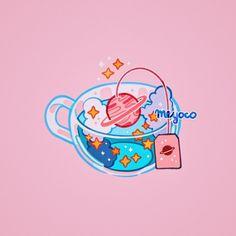 Drawing Superhero Galaxy tea and now it reminds me of Magic Shop by BTS Arte Do Kawaii, Kawaii Art, Arte Copic, Stickers Kawaii, Arte Fashion, Japon Illustration, Kawaii Illustration, Drawn Art, Arte Sketchbook