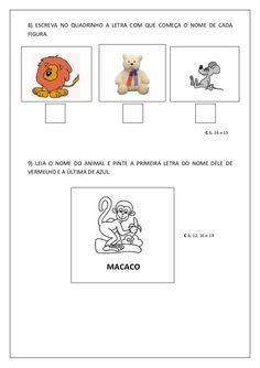 ALFABETIZAÇÃO CEFAPRO - PONTES E LACERDA/MT : Sugestão de Avaliação diagnóstica para a 1ª fase do 1º ciclo Education, Comics, Note Cards, Autism, Diet, Places, Comic Book, Educational Illustrations