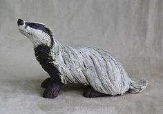 Small badger - ceramic stoneware with oxide glaze