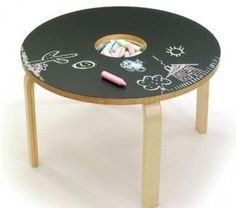 Great idea for old table~redo for granddaughter.