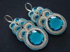 Avinashi earrings soutache de MaKaSoutache