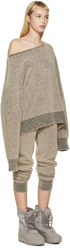 YEEZY Season 1 Brown Bouclé Knit Sweatshirt