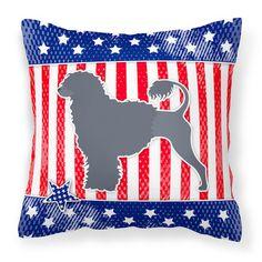 """Caroline's Treasures Patriotic Indoor/Outdoor Throw Pillow Size: 18"""" H x 18"""" W x 3"""" D"""