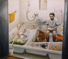 The dark surrealism of Japanese artist, Tetsuya Ishida...