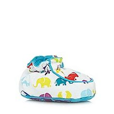 Baker by Ted Baker - Babies blue elephant print booties