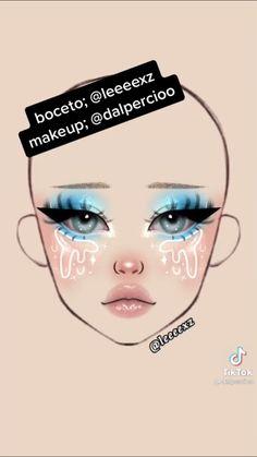 Anime Makeup, Sfx Makeup, Makeup Art, Makeup Cosmetics, Cute Makeup, Pretty Makeup, Graphic Makeup, Makeup Face Charts, Makeup Drawing
