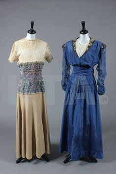 Day and evening dresses, 1912-18