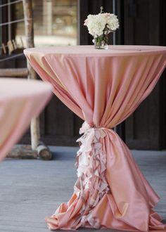 37 ideas wedding reception cocktail tables linens for 2019 Cocktail Wedding Reception, Wedding Reception Table Decorations, Decoration Table, Wedding Table, Wedding Ideas, Wedding Lounge, Wedding Themes, Luxury Wedding, Dream Wedding