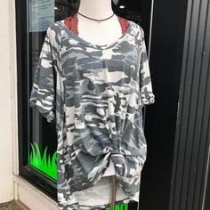"""Crazy for Camo """"Let it Fall"""" top ($47) styled with our funky floral bralette and elephant choker   FREE SHIPPING  Call 440.893.9279 email sales@sanitystyle.com  to order or shop in store    #sanitystyle #sanitychagrinfalls #shoplocal #chagrinfalls #shopchagrinfalls #boutique #freeshipping #cleveland #clevelandfashion #clevelandstyle #style #shop #cle #thisiscle #love #selloninsta #instasale #fashionpost #beautiful #picoftheday #shopping #shopaholic #retailtherapy #instaboutique #spring…"""