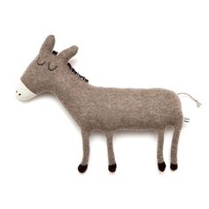 Donald the Donkey Lambswool Plush Toy Made to order by saracarr