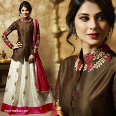 Bollywood star jennifer winget style gown suit at a steal! Get flat 30% off + free shipping worldwide on the designer suits, sarees and much more. Sign Up with us and get additional 10% Off - USE CODE - EXTRA10 For Order Whatsapp +919909183387 | Enquiry please DM Us We do Customized Stitching ✂️ also & Free Shipping Worldwide #Inddus #JenniferWinget #SalwarKameez #DesignerSuits #GownStyleSuits #GownSuit #EthnicWear #IndianClothing