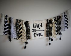 Wild One Birthday Banner Wild Things Tribal Party