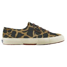 Superga 2750 Flat Lace Up Trainers, Leopard Print Leather (2,140 MXN) ❤ liked on Polyvore featuring shoes, sneakers, leopard print shoes, superga shoes, plimsoll sneaker, leopard sneakers and low sneakers