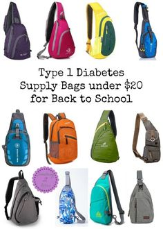 Type 1 Diabetes Supply Bags under $20 for Back to School-Every kid needs a great backpack for school and Type 1 Diabetes kids need cool options to carry supplies! Parents want a good sturdy bag that doesn't cost an arm and a leg. This collection of bags have been recommended by many Type 1 families. I am recommending them since they are under $20!
