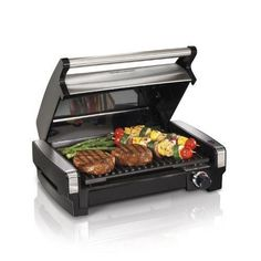 Indoor Searing Grill Nonstick Electric Portable Stainless Steel BBQ Dorm Room  #HamiltonBeach